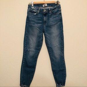 Paige Hoxton Torn Back Hem Jeans